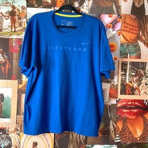 NIKE | Livestrong Athletic Casual Tee Blue
